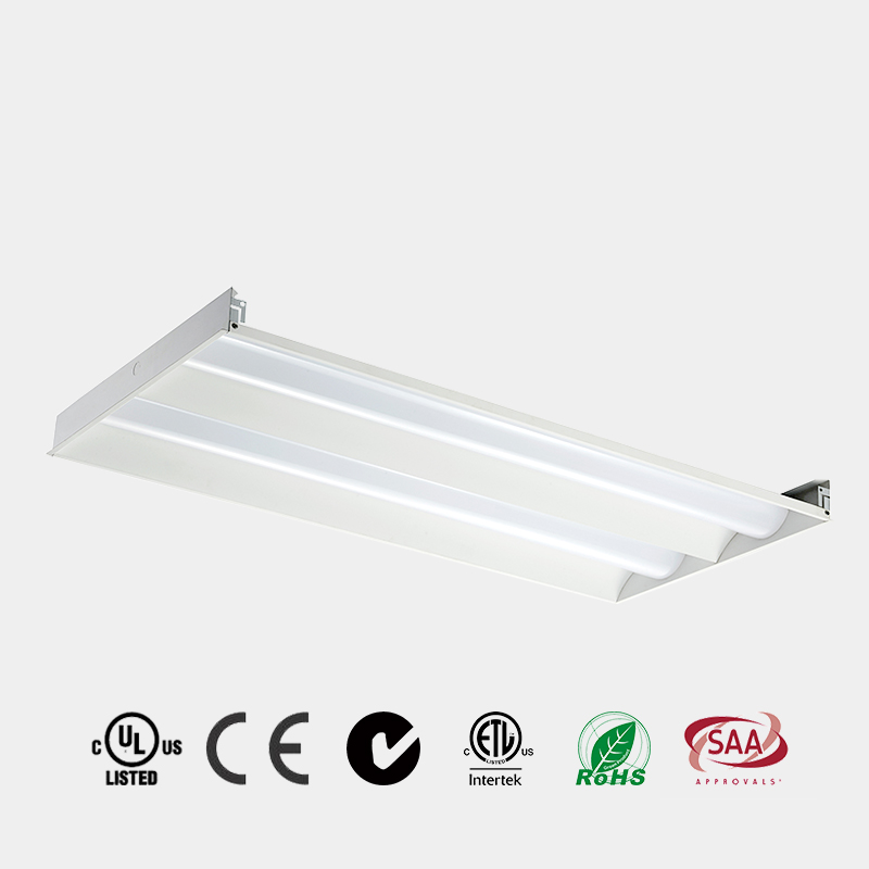 led light panel with sensor emergency 2x2 2x4 DLC 125 LM/W CE ETL LED Recessed LED Troffer China HG-