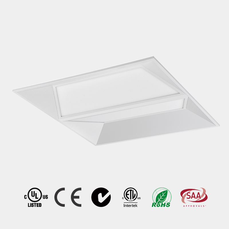 LED Panel Light 2x2 2x4 UGR<19 DLC 110 LM/W CE ETL LED Recessed LED Troffer China E1805