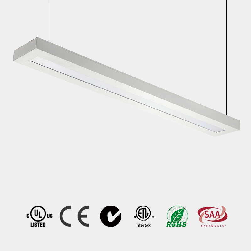 Milky high diffusion Acrylic Lens white or black body suspended LED lightUGR<19 CE ETL 110 LM/W Chin
