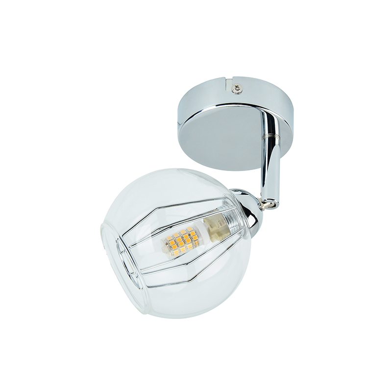 LED Spot light with metal wirecage and clear glas , incl.G9 3.5W Bulb 3000K