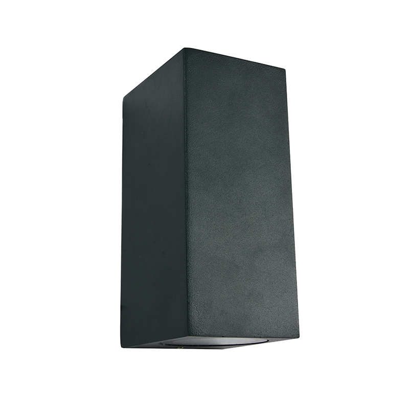 Outdoor wall sconce modern exterior led garden lighting up and down waterproof IP54 in dark grey COB