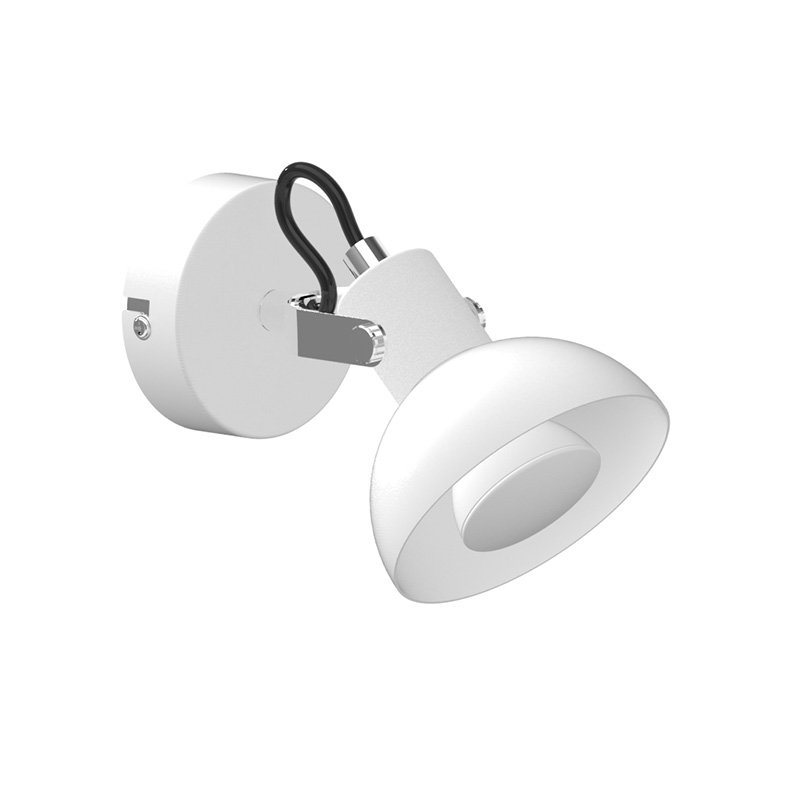 LED Spot light with indirect GU10 Bulb 3W in white and chrom