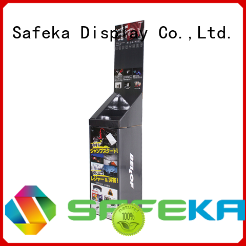 printed dump bin display cardboard SAFEKA company