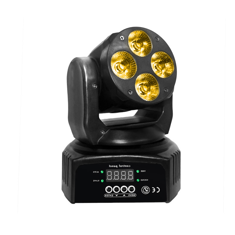 Mini Moving Head Wash LED_M WASH 406  4pcs of 10W RGBWA+UV  6in1 LED mini wash light