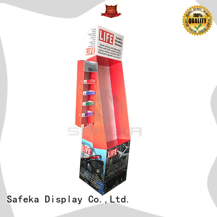optical power retail display pos corrugated SAFEKA company