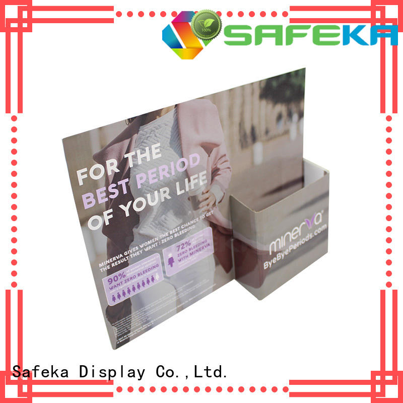 standee material corrugated cardboard cutout standees pegs SAFEKA Brand