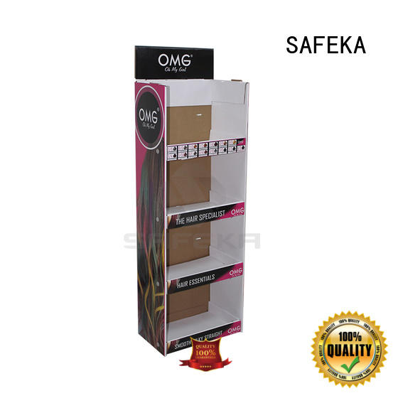 SAFEKA power retail display shelves cheapest factory price for customization