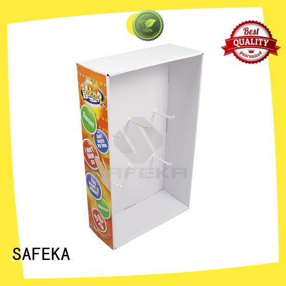 SAFEKA cardboard retail display goods-promoting at discount