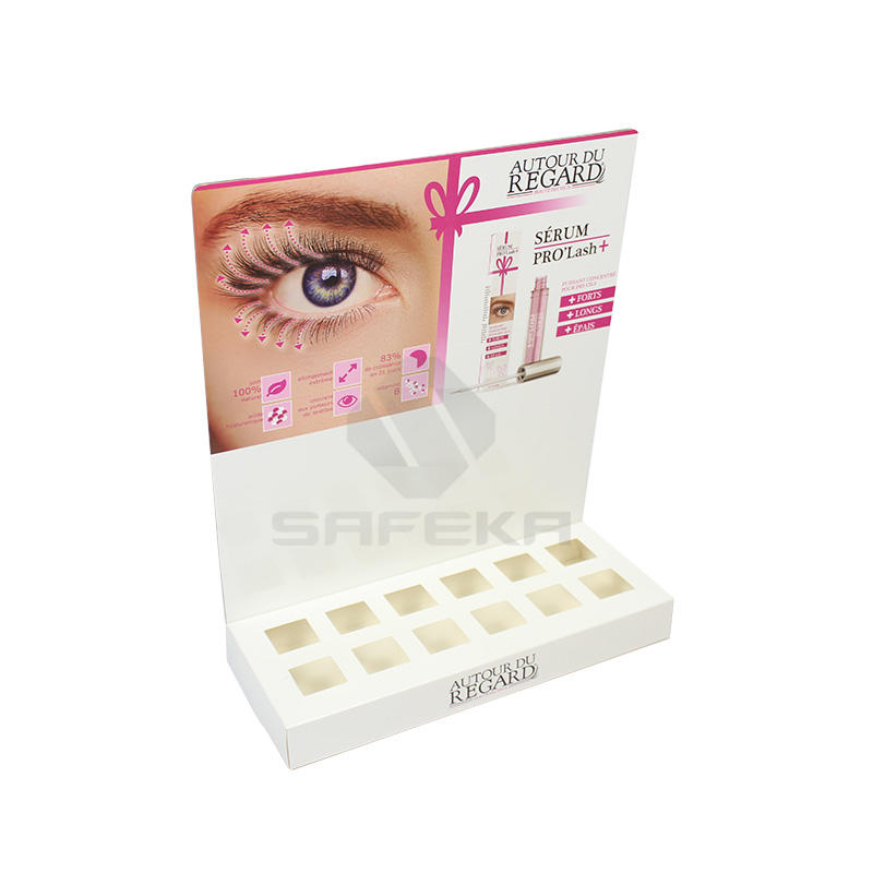 Attractive Colorful Printing Cosmetic Counter Display Box for  Mascara