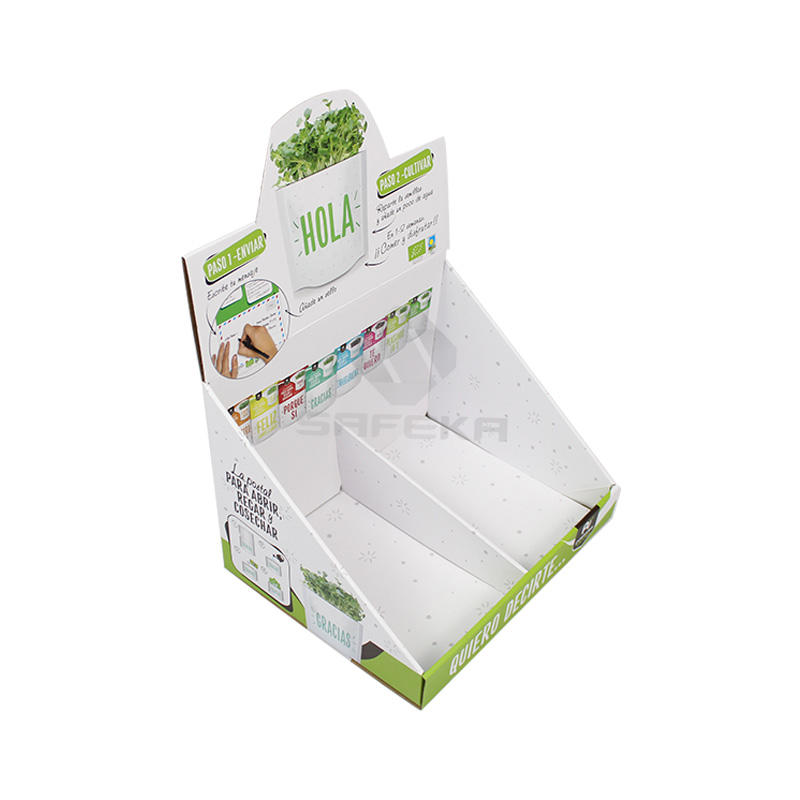 Paper Material Counter Display Unit Box  for  Seed Packs