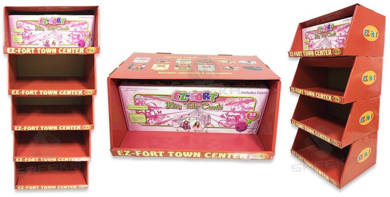 SAFEKA -Custom Case Stacker Display Boxes Cardboard Pallet Skirt Display