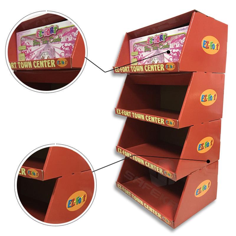 SAFEKA -Custom Case Stacker Display Boxes Cardboard Pallet Skirt Display-1