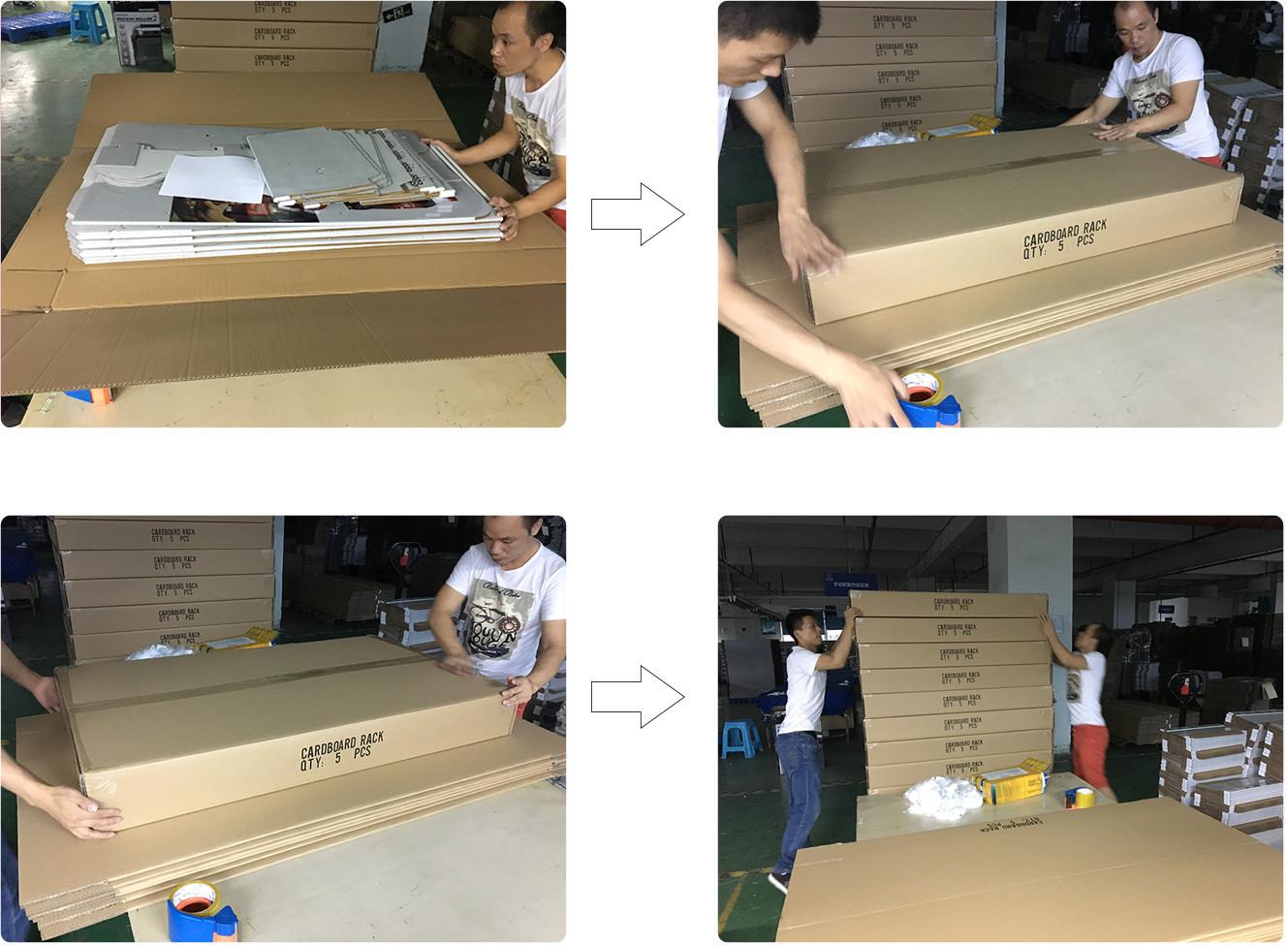 SAFEKA -Custom Case Stacker Display Boxes Cardboard Pallet Skirt Display-3