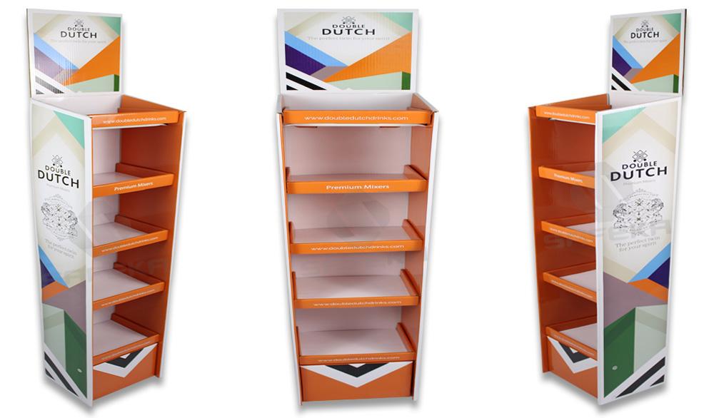 SAFEKA -Cardboard Portable Floor Display Stand Retail Display Stands