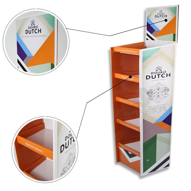 SAFEKA -Cardboard Portable Floor Display Stand Retail Display Stands-1