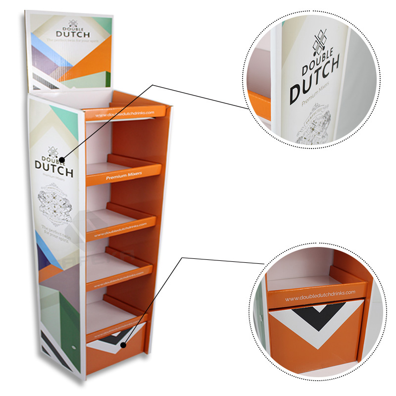 SAFEKA -Cardboard Portable Floor Display Stand Retail Display Stands-2