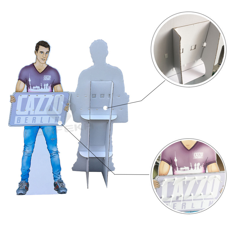SAFEKA -Full Printing Corrugated Material Customized Floor Display Standee-1