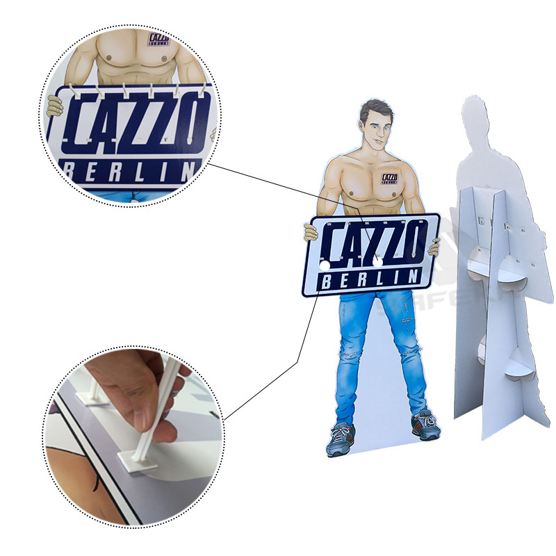 SAFEKA -Full Printing Corrugated Material Customized Floor Display Standee-2