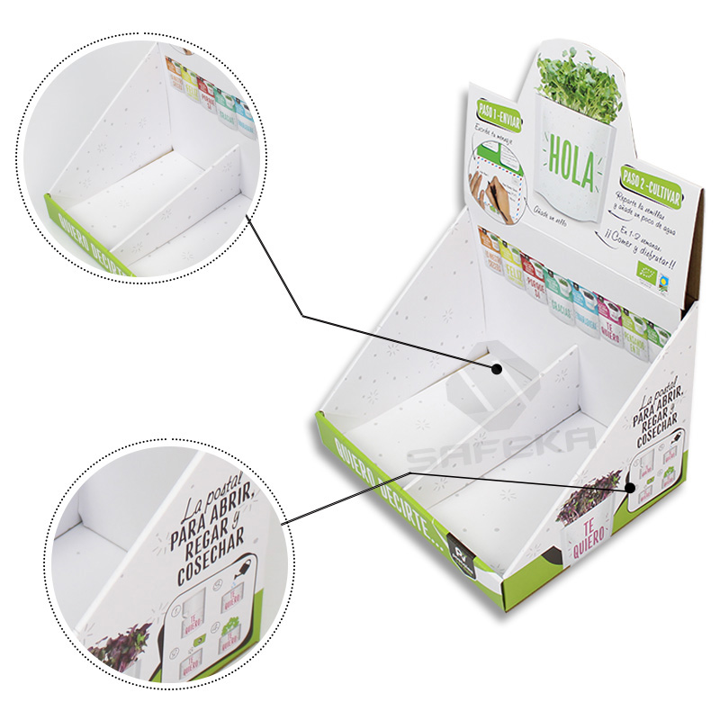 SAFEKA -Paper Material Counter Display Unit Box For Seed Packs - Safeka-2