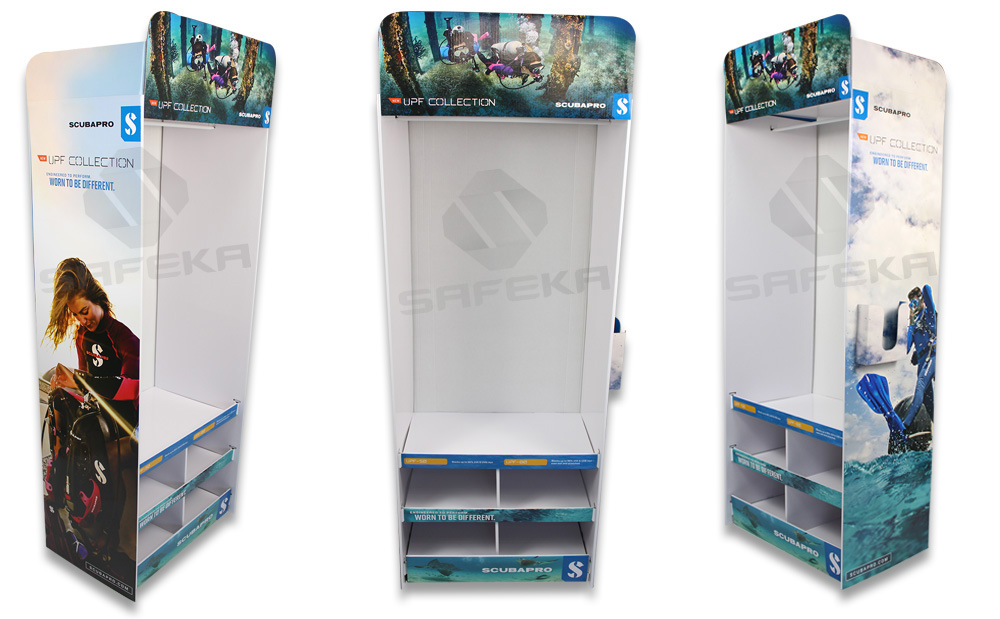 SAFEKA -Creative Free Standing Cardboard Floor Display | Retail Floor Displays