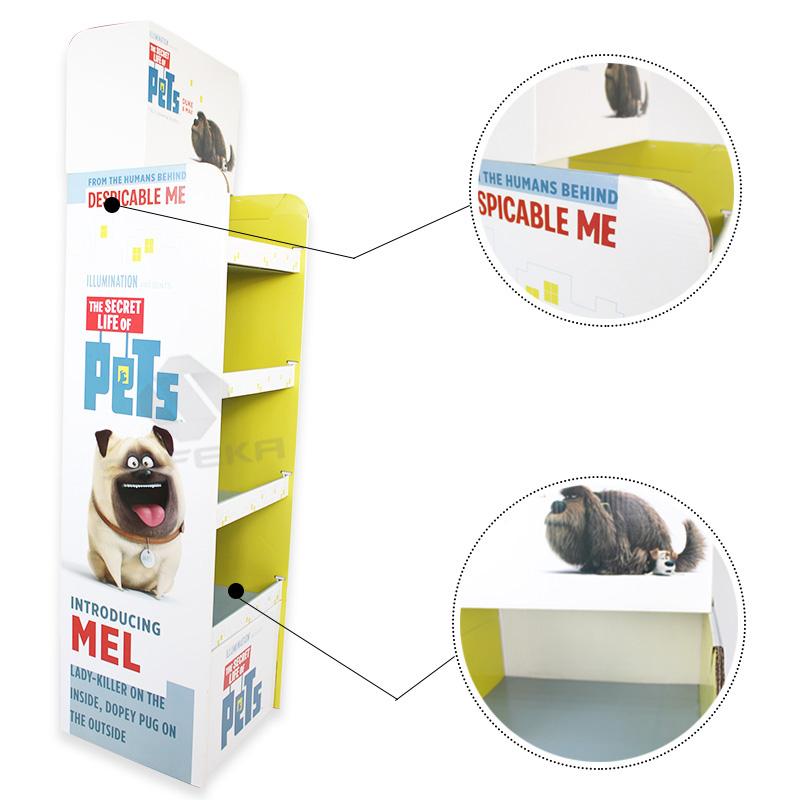 SAFEKA -Custom Printed Fsdu Cardboard Floor Display Retail Product Stands-1