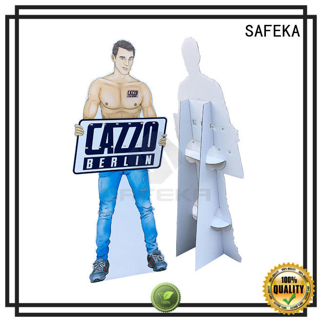 SAFEKA low-cost cardboard cutout standees free sample for bulk order