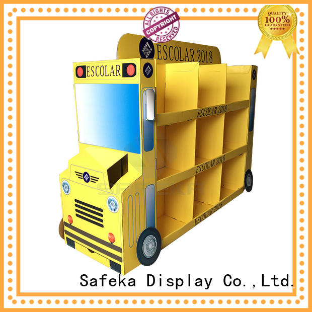 high-quality cardboard display stand custom made for supermarket