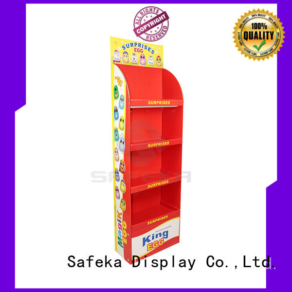 Offset Printing Paper Material Cardboard Shelf Stand Shipper Displays for Egg Toys