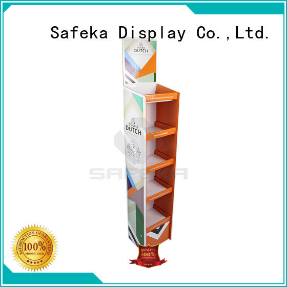 Cardboard Advertising Portable Floor Display Stand for Wine or Beers
