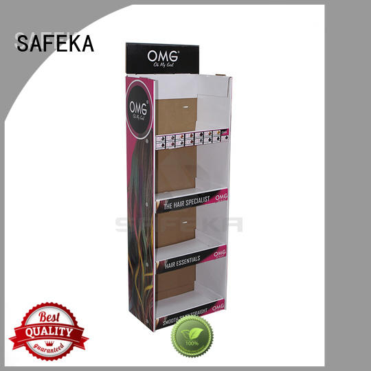 cardboard hanging retail display wing shirt sale SAFEKA Brand