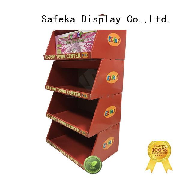 cardboard pallet display shelves goods-promoting for bulk order SAFEKA