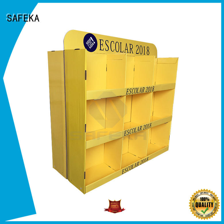 2 Side 18 cell advertising cardboard  pallet display for study materials