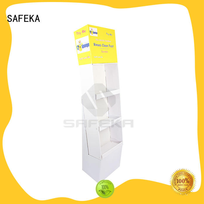 SAFEKA attractive floor display large capacity for sale