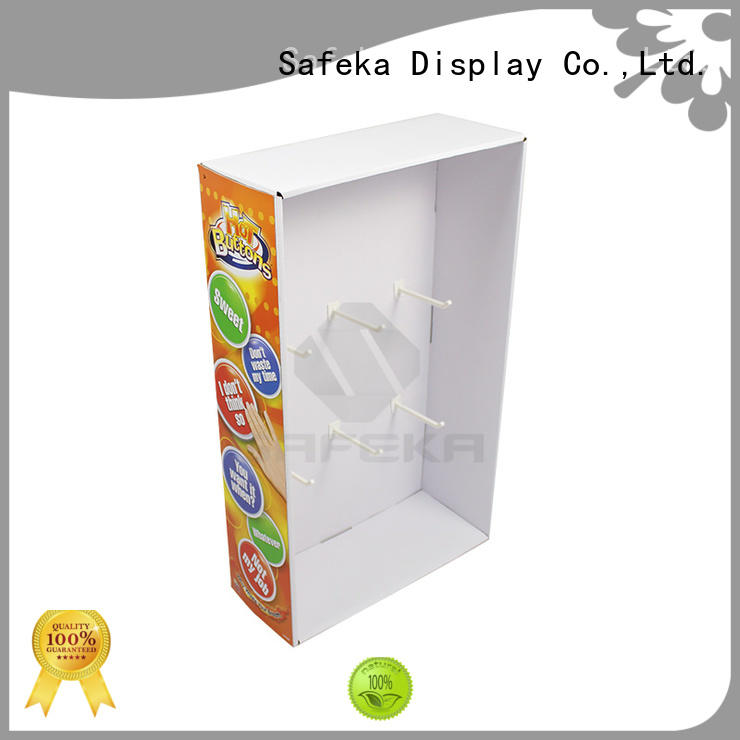 top selling cardboard candy display stand hot-sale at discount SAFEKA