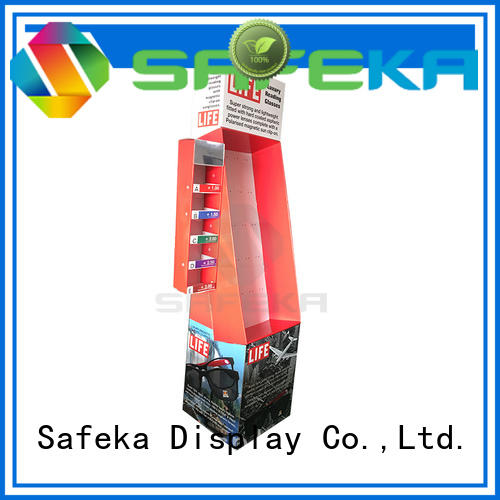 Custom shirt peg retail display SAFEKA power