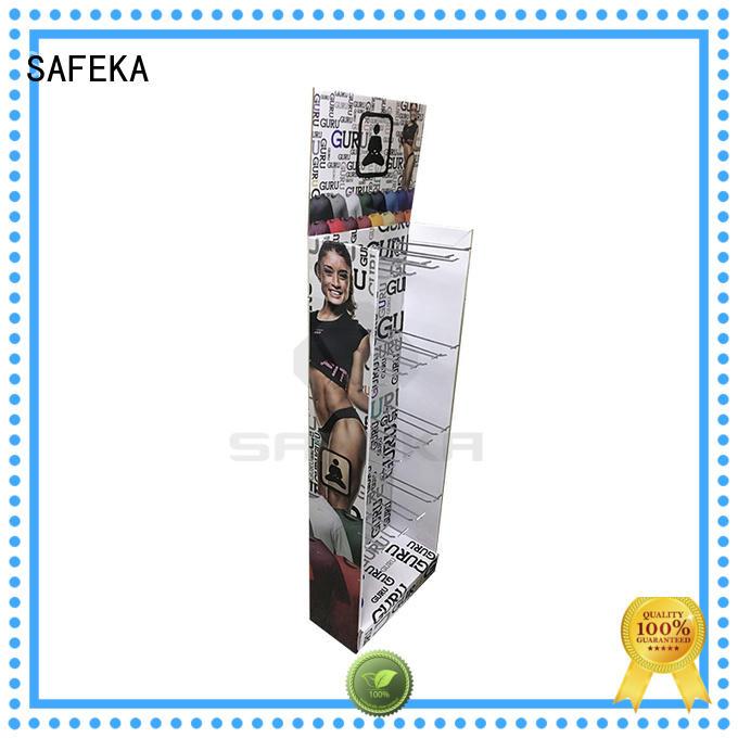SAFEKA size retail display shelves top manufacturer for customization