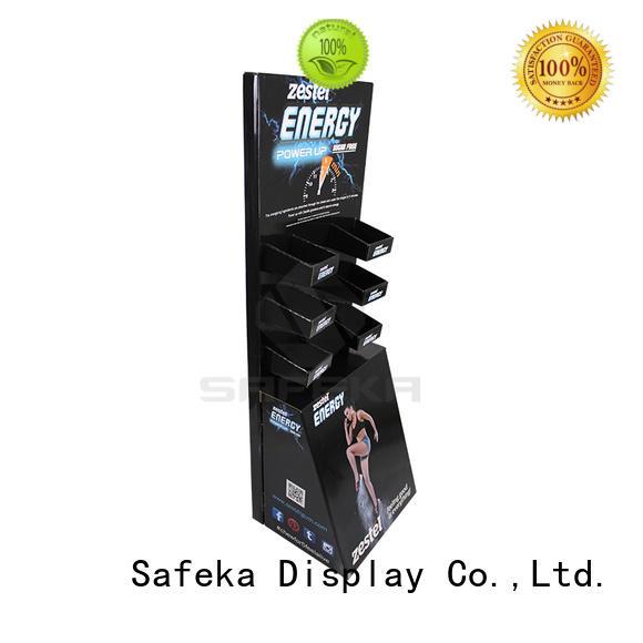 Custom Creative Retail Cardboard Paperboard Shelf Floor Display Units for Chewing Gums