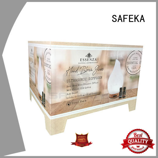 SAFEKA floor cardboard display stand custom made for customization