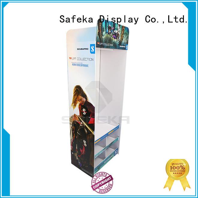 Creative Free standing cardboard floor display for diving suit