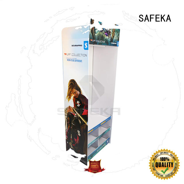cardboard floor displays display pallet SAFEKA Brand floor display