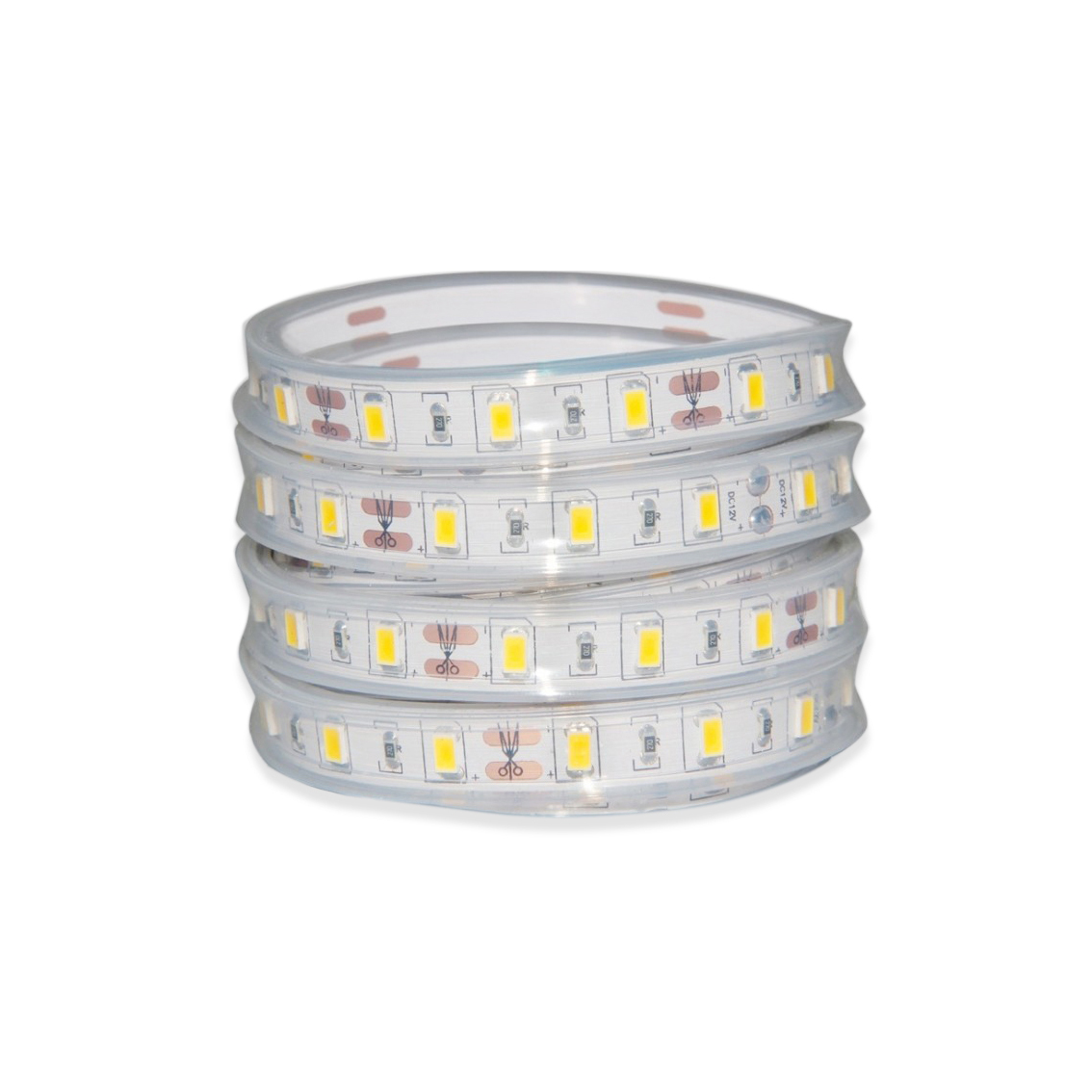 IP68 SMD5730 Silicone Encased Flexible LED Strip, Suitable for Outdoor Use