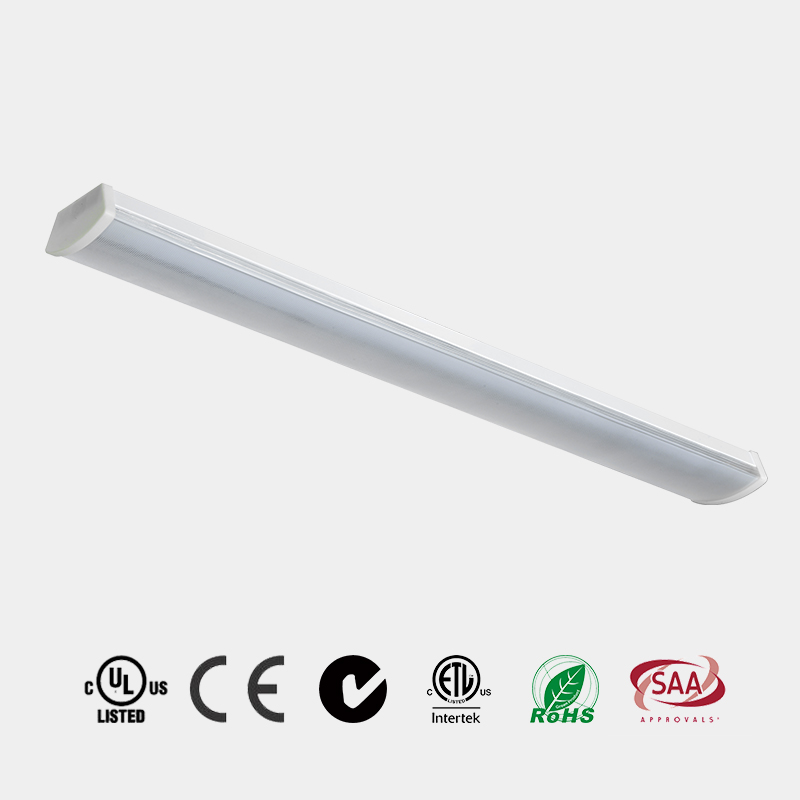 Led Light Fitting slim batten UGR<19 CE ETL 110 LM/W micro prismatic diffuser  C1801