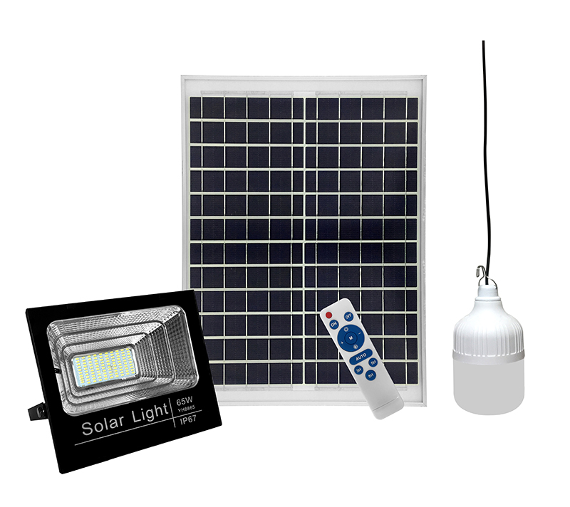 IP67 Alloy aluminum solar flood light with LED bulb for the indoor