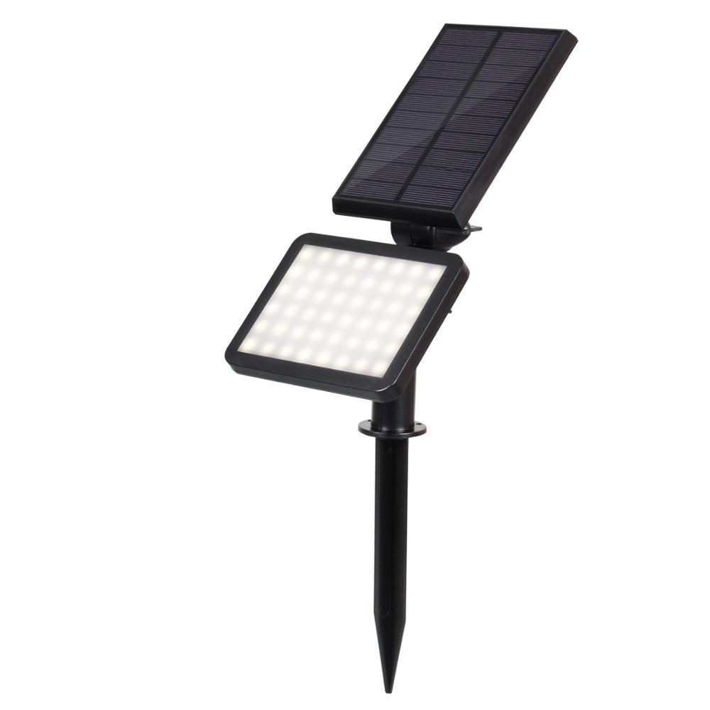 48 led solar powered pathway lawn solar garden light