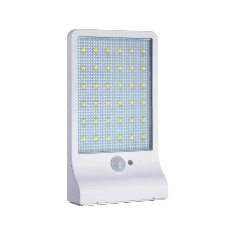 High bright 36 led solar motion activated solar wall light