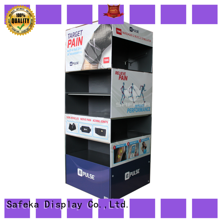 SAFEKA skirt cardboard counter display custom made for supermarket