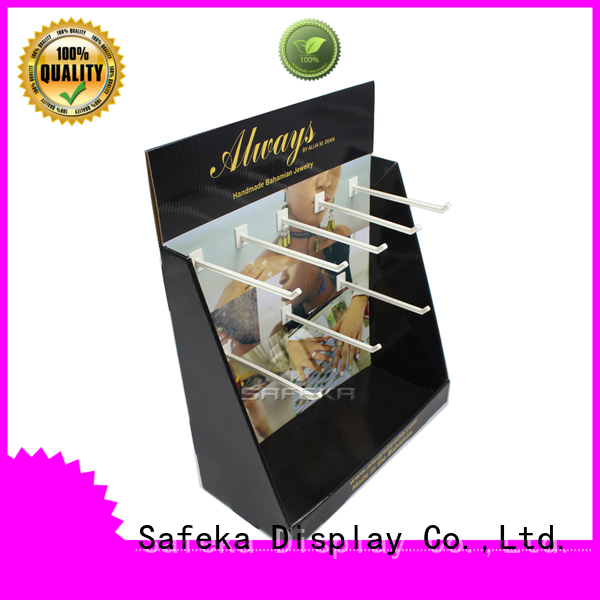 Pop Display Companies Cardboard Product Displays with Hooks for  jewelry promotion SC1920