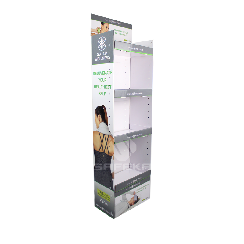 Custom Design 4 Tier Retail Cardboard Display Racks for Yoga Products SF1131
