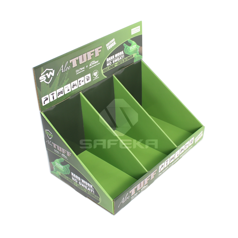 Advertising Cardboard Counter Display Stands for Gloves SC1132