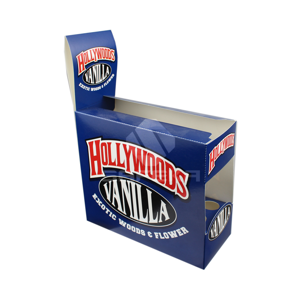 Shelf ready display box  for Electronic Cigarette Essential Oil Vanilla Flavor SC11502